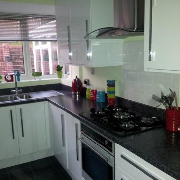 High Gloss White KItchen in Dronfield S18