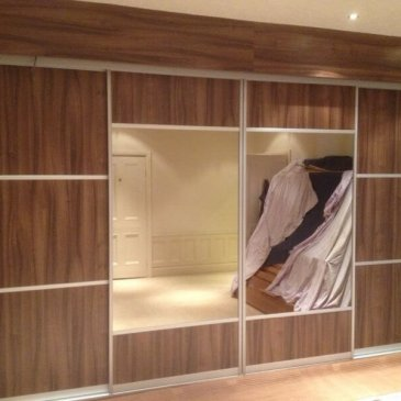 Medium Walnut sliding wardrobe in Worksop S80