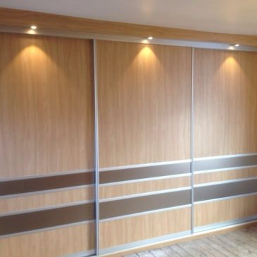 sliding wardrobe in Stilo Walnut
